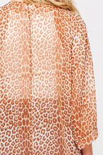 Load image into Gallery viewer, Subdued Nude Leopard Kimono