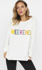La Weekend Graphic Sweatshirt