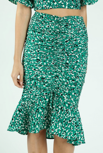 Green With Envy Mermaid Midi Skirt