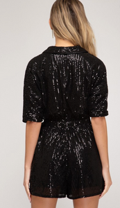 All That Glitters Romper