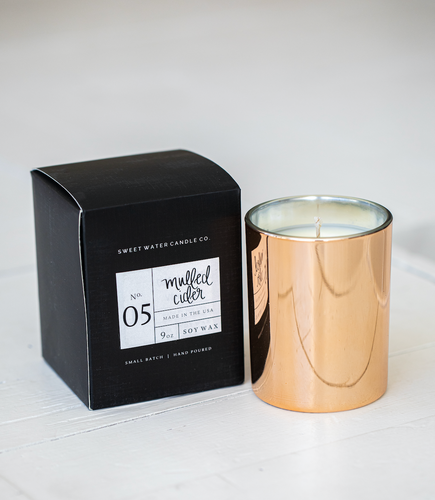 MULLED CIDER GOLD CANDLE