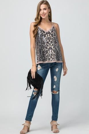 Fancy Leopard Camisole Top