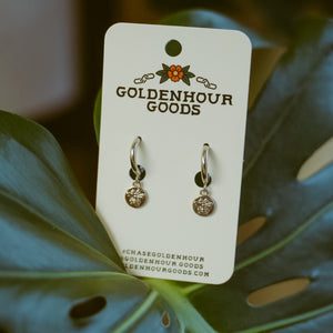 Silver Honeybee Earrings