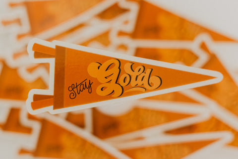 """Stay Gold"" Pennant Sticker"