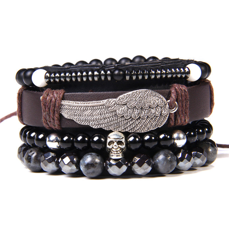 Leather Bracelet With Monuments