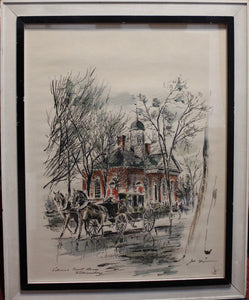 John Haymason- Watercolor and Ink Drawing Print
