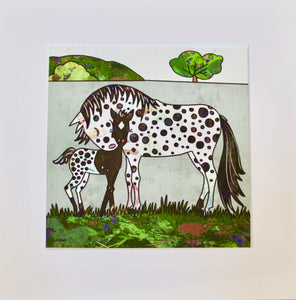 Nuzzles for Days (Appaloosa)- Unframed Print