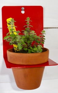 Red Sheet Metal Wall Planter