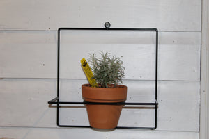 "10"" Black Square Wall Planter"