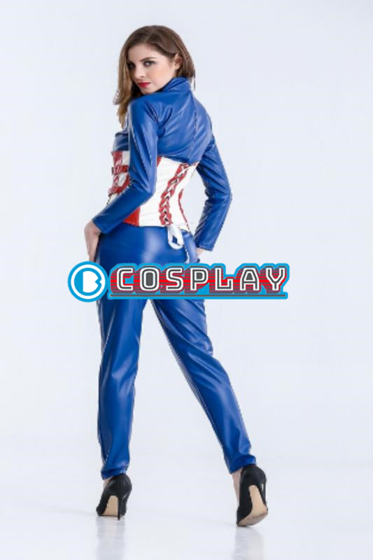 333d93bc09 Marvel Captain America Cosplay Costume Women Sale Christmas Dresses  Halloween Party