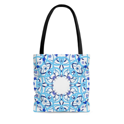 Evil Eye Blue Tile Tote Bag