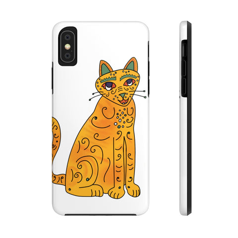 Abba inspired Groovy Orange Kitty Phone Case