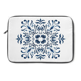 Blue and White Tile Inspired Laptop or Tablet Sleeve