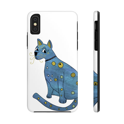 Abba inspired Groovy Blue Kitty Phone Case
