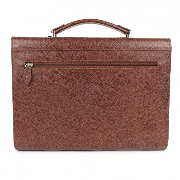 Single Gusset Briefcase brown | Laurige