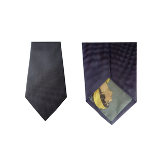 Grey Blue Natté Silk Tie | Blick