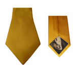 Yellow Natté Silk Tie | Blick