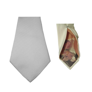 White Natté Silk Ties | Blick