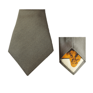 Light Grey Natté Silk Tie | Blick
