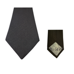 Dark Grey Natté Silk Tie | Blick