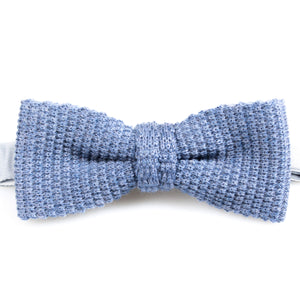Denim Knitted Wool Bowtie | Blick