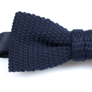 Marine Knitted Wool Bowtie | Blick