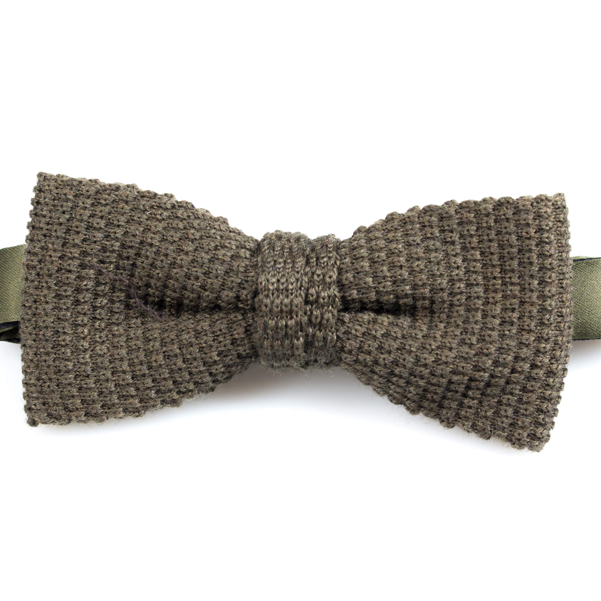 Olive Knitted Wool Bowtie | Blick