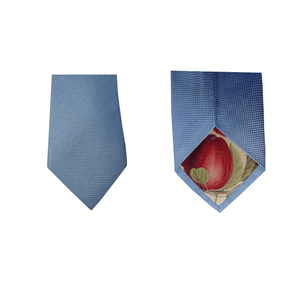 Light Blue Natté Silk Tie | Blick