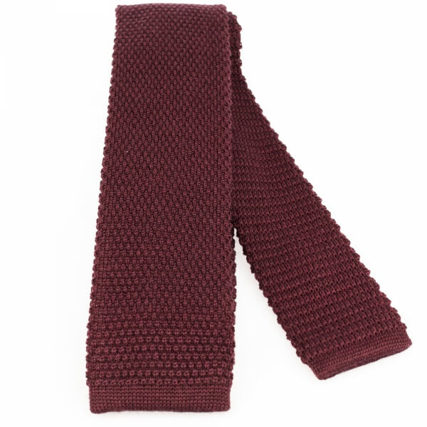 Bordeaux Wool Knitted Tie | Blick