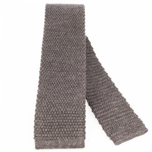 Dark Grey Knitted Wool Tie | Blick