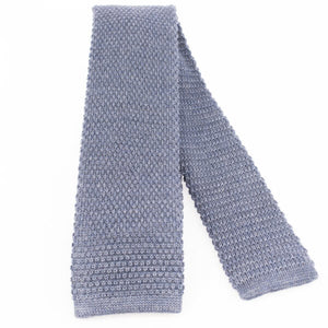 Denim Knitted Wool Tie | Blick