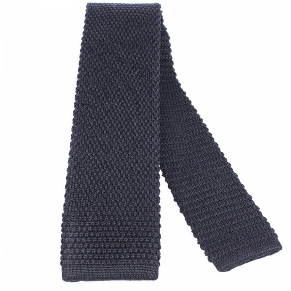 Navy Knitted Wool Tie | Blick
