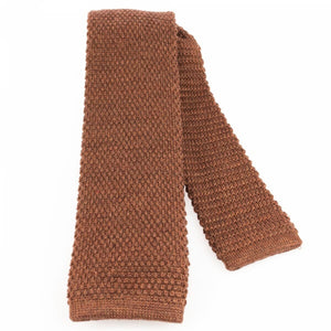 Rusty Knitted Wool Tie | Blick