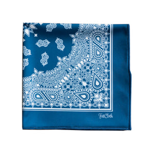 Salvatore Blue  Pocket Square