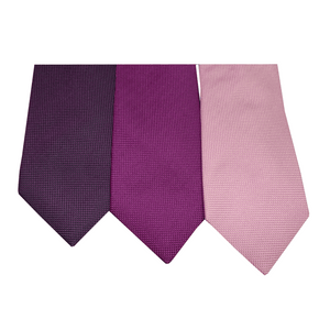 Dark Purple Natté Silk Tie | Blick