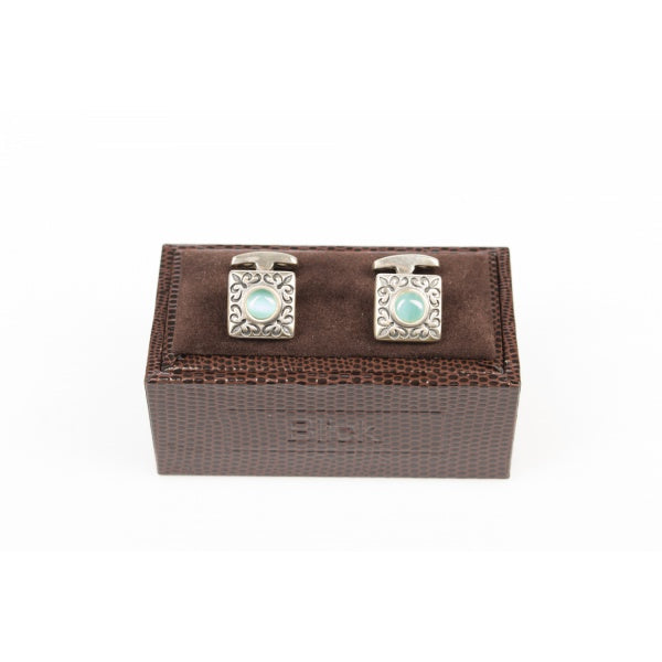 Nacre Stone Silver Cufflinks by Blick