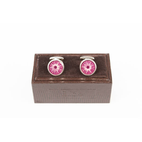 Purple Silver Cufflinks  | Blick