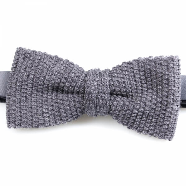 Grey Knitted Wool Bowtie | Blick