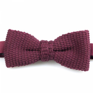 Bordeaux Knitted Wool Bowtie | Blick