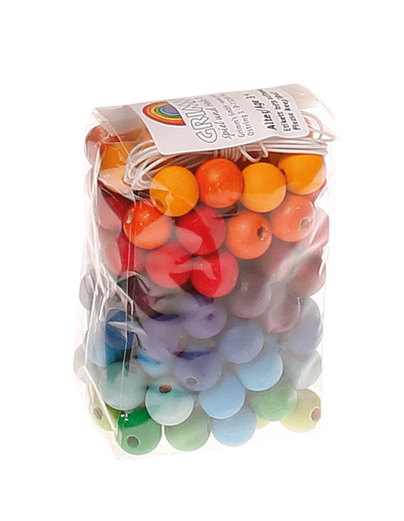 GRIMM'S 120 Small Rainbow Wooden Beads
