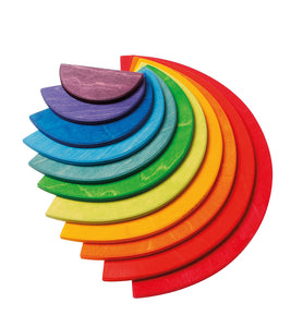 GRIMM'S Large Semicircles, Rainbow Colours, 11 Pieces