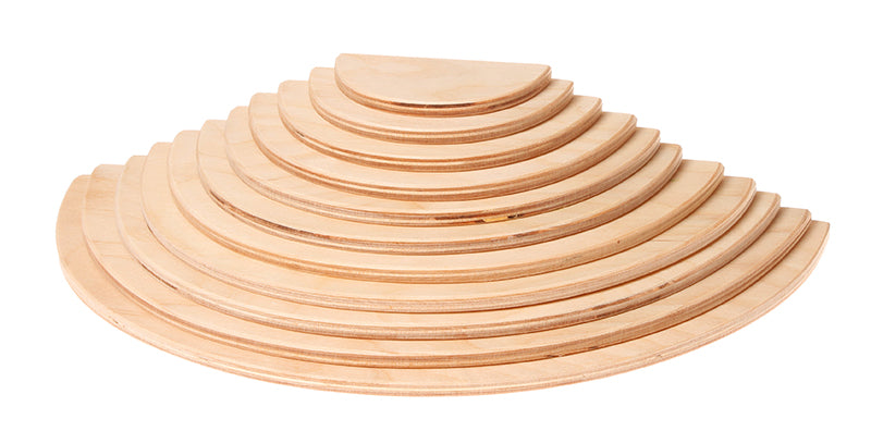 GRIMM'S Large Semicircles, Natural, 11 Pieces