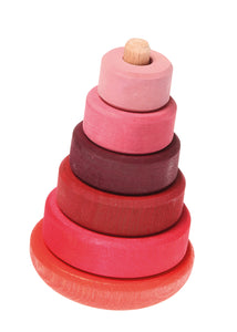 GRIMM'S Wobbly Stacking Tower, Pink