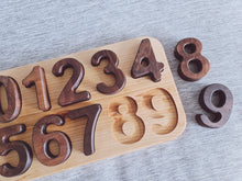 Load image into Gallery viewer, Walnut Number Puzzle 0-9