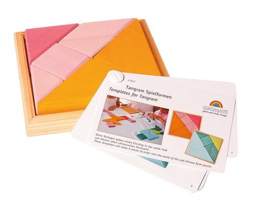 GRIMM'S Creative Set Tangram Incl. Templates, Orange-Pink