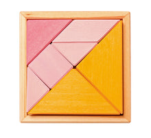 Load image into Gallery viewer, GRIMM'S Creative Set Tangram Incl. Templates, Orange-Pink