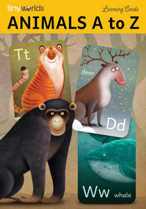 TINY WORLDS Animals A to Z Cards