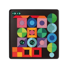Load image into Gallery viewer, GRIMM'S Magnet Puzzle Triangle, Square, Circle with Sparkling Parts