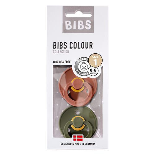 BIBS 2-Pack Colour Pacifier - Woodchuck & Hunter Green