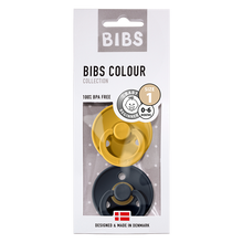 Load image into Gallery viewer, BIBS 2-Pack Colour Pacifier - Mustard & Smoke
